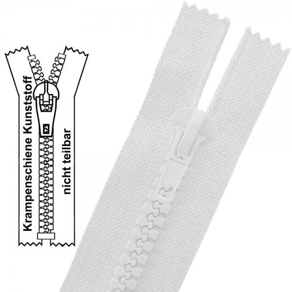 9 mm (extra breit) - Reißverschluss Krampenschiene (Kunststoff) - 1-Weg - Nicht Teilbar