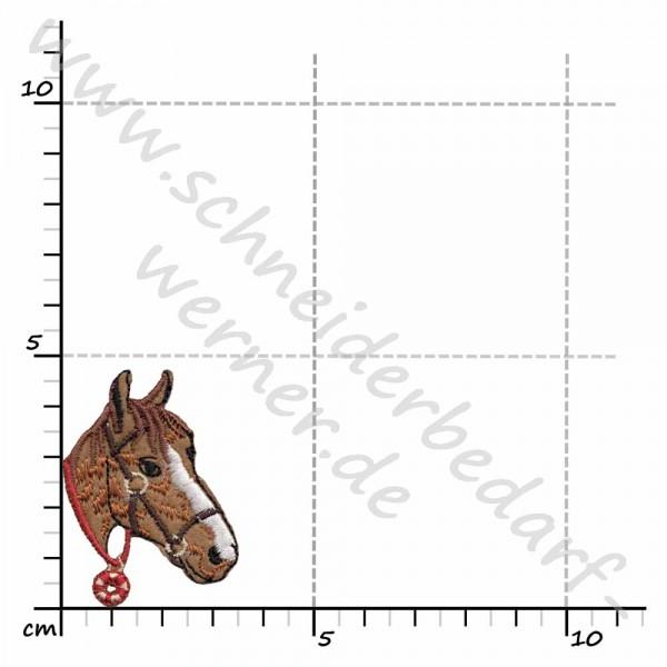 Applikation zum Aufbügeln (Pferdekopf)