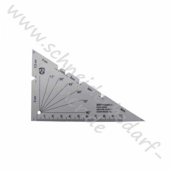 Dreieckslineal / Nahtmaß (ca. 13,5 cm x 8,5 cm)