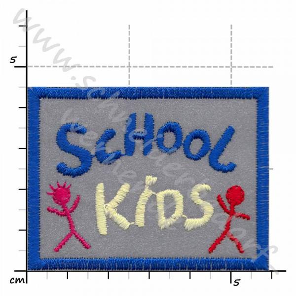 Reflektierende Applikation zum Aufbügeln (School Kids)