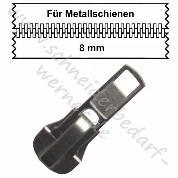 8 mm - Zipper/Schieber für Metallschiene
