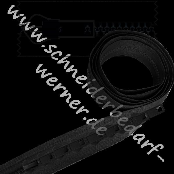 RESTE: 5 m Reißverschluss (6 mm Krampenschiene) + 10 Schieber (aufgezogen)
