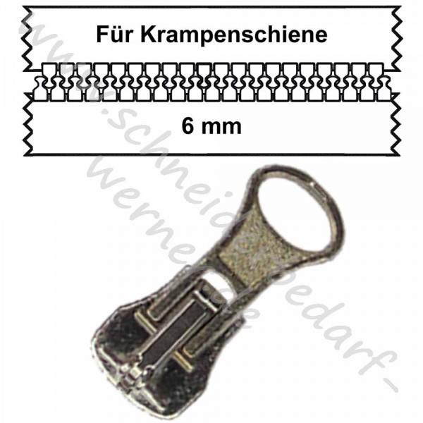 6 mm - Zipper/Schieber für Krampenschiene