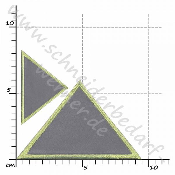Reflektierende Applikation zum Aufbügeln (2 Dreiecke)