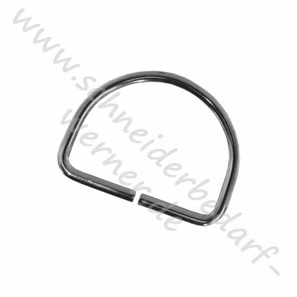 Metallhalbringe für Gurtband (D-Ringe)