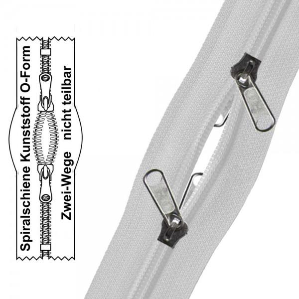 10,5 mm (extra breit) - Reißverschluss Spiralschiene (Kunststoff)-Zelt- O-Form/2-Wege- Nicht Teilbar