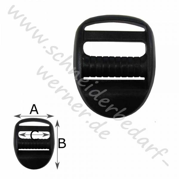 Regulierer / Stegschnalle mit Griff für Gurtband (Kunststoff)