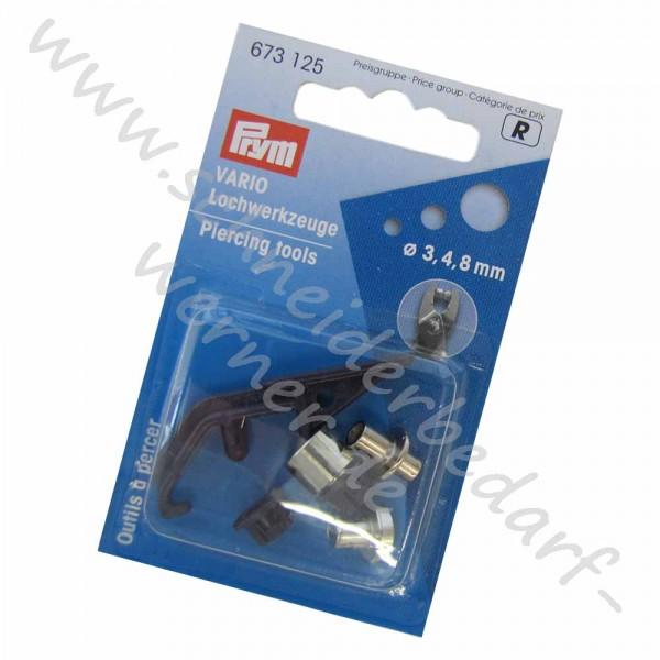 PRYM Lochwerkzeuge für Vario-Zange (3 mm, 4 mm + 8 mm)