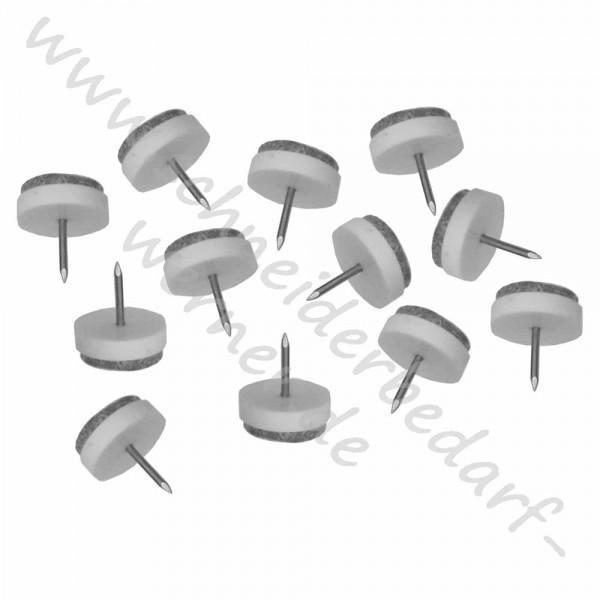 Filzgleiter mit Nagel (12 Stück)
