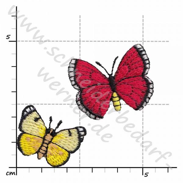 Applikation zum Aufbügeln (Schmetterling-Pärchen)