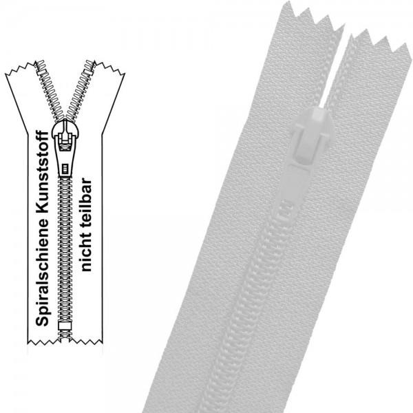 6 mm - Reißverschluss Spiralschiene (Kunststoff) - 1-Weg - Nicht Teilbar