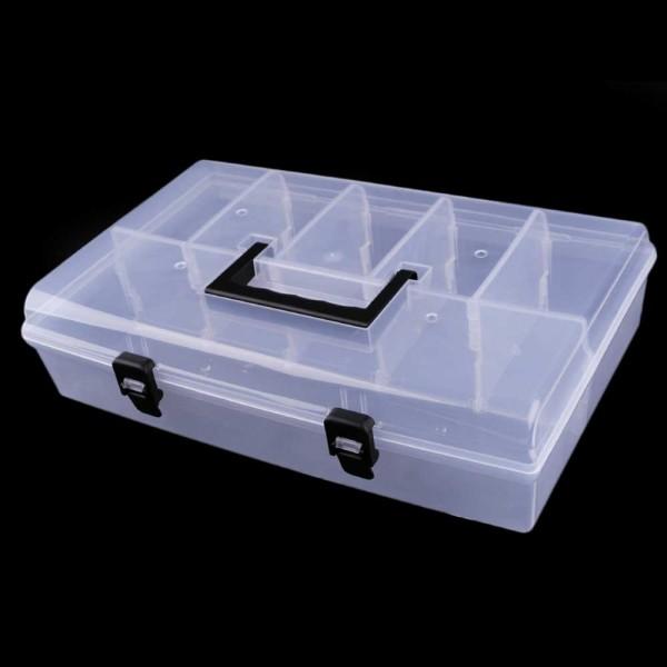 Kunststoff-Sortierbox / Aufbewahrungskoffer - 36 cm x 23 cm x 9 cm