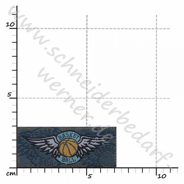 Motiv-Flicken zum Aufbügeln (Basketball)