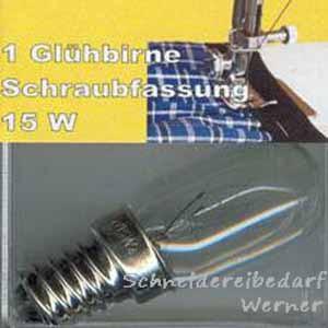 Glühbirne für Nähmaschine (15W / 220V)