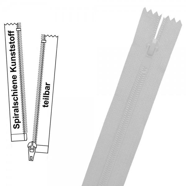 Reißverschluss für Blusen / Kleider - 3 mm (extra feine) Spiralschiene - 1-Weg - Teilbar