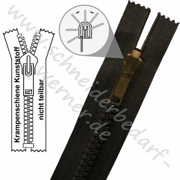 6 mm - 1-Weg-Wende-Reißverschluss (Krampenschiene (Kunststoff)) - Nicht Teilbar
