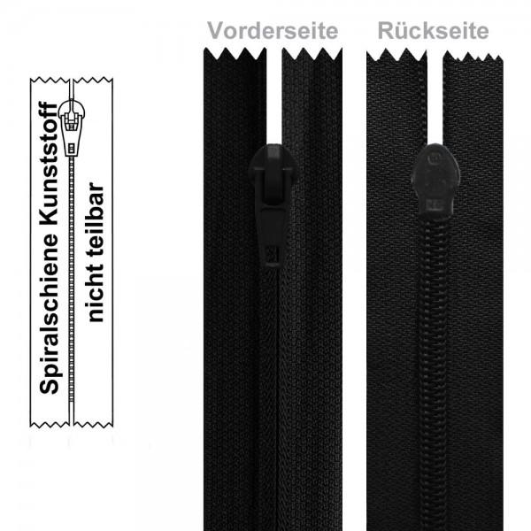 6 mm - Umgekehrter Reißverschluss (Spiralschiene) - 1-Weg - Nicht Teilbar