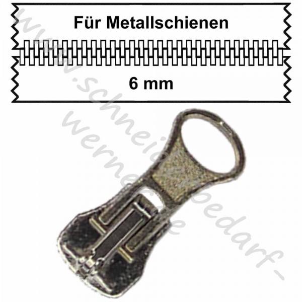 6 mm - Zipper/Schieber für Metallschiene