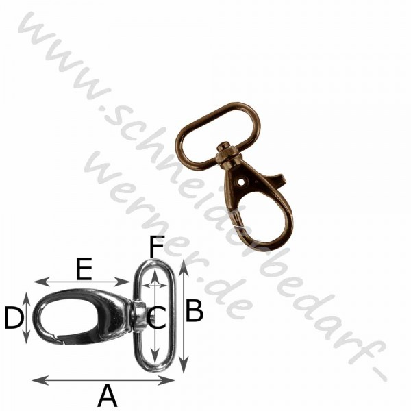 Karabinerhaken für Gurtband (Metall)