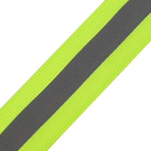 5 Meter Reflexband / Reflektierendes Leuchtband / Reflektorband - 25 mm - zum Aufnähen