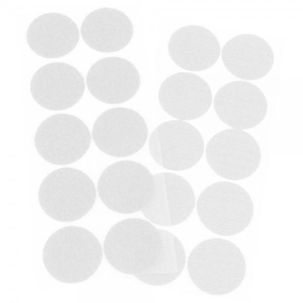 selbstklebende Klettpunkte, Durchmesser: 35 mm (Haken- und Flauschseite)