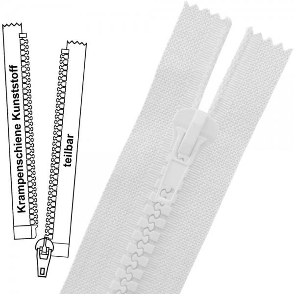 Reißverschluss für Motorradjacken - 9 mm (extra breite) Krampenschiene - 1-Weg - Teilbar