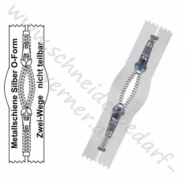 4,5 mm - Reißverschluss Metallschiene - O-Form/2-Wege - Nicht Teilbar