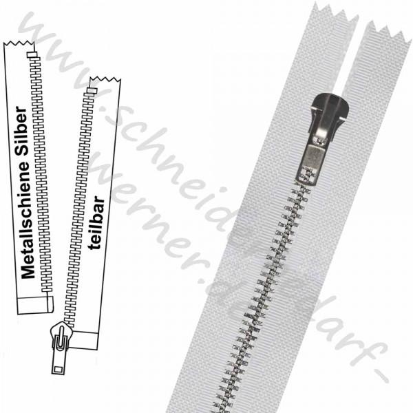 Reißverschluss für Jacken - 6 mm Metallschiene - 1-Weg - Teilbar
