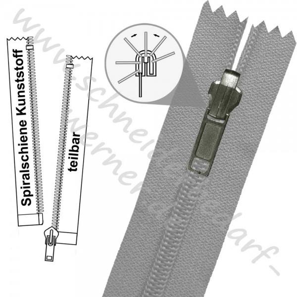 Reißverschluss für Wendejacken - 6 mm Spiralschiene (Kunststoff)) - 1-Weg -Teilbar