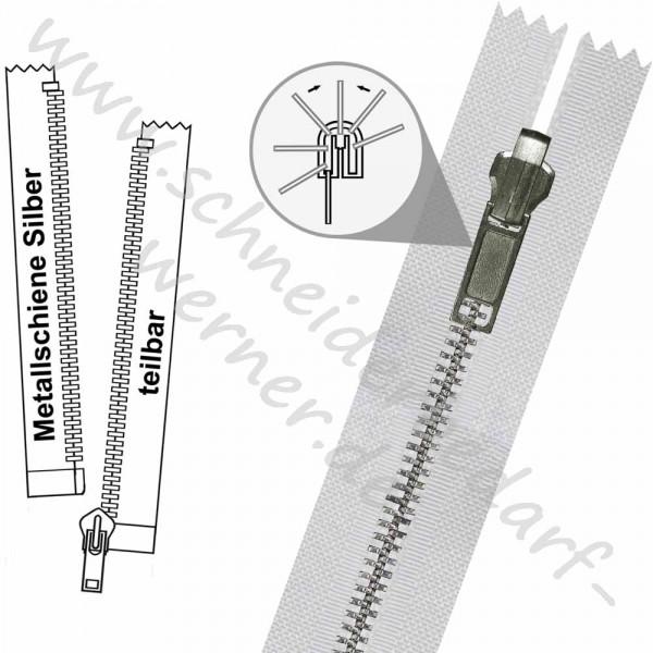 Reißverschluss für Wendejacken - 6 mm Metallschiene - 1-Weg -Teilbar