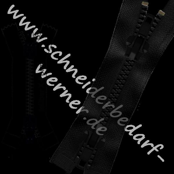 9 mm (extra breit) - Reißverschluss Krampenschiene (Kunststoff) - Jacke - X-Form/2-Wege - Teilbar