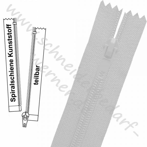 Reißverschluss für Jacken - 6 mm Spiralschiene (Kunststoff) - 1-Weg - Teilbar