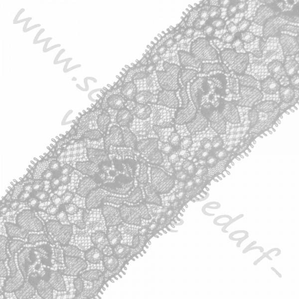 Elastisches Spitzenband / Ziergummi (6,5 cm breit)