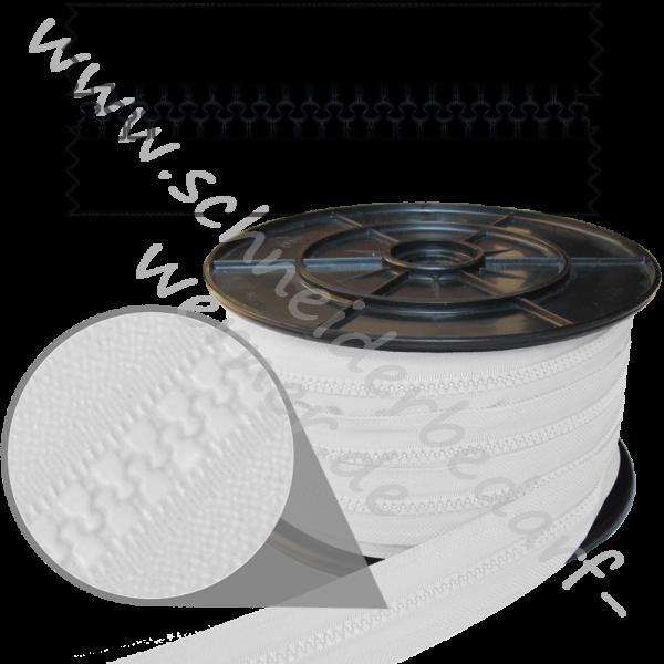 6 mm - Reißverschluss Krampenschiene (Kunststoff) - Meterware