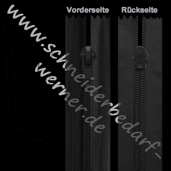 6 mm - Umgekehrter Reißverschluss (Spiralschiene) - 1-Weg - Teilbar