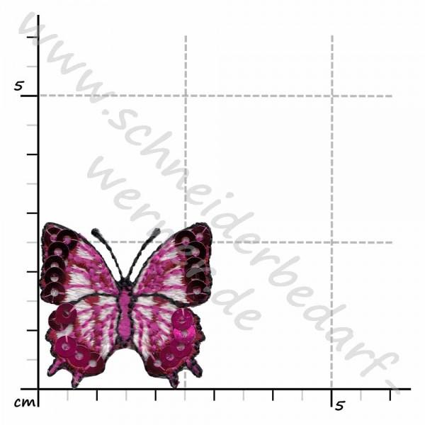 Stick-Pailletten Applikation zum Aufbügeln (Schmetterlinge klein)