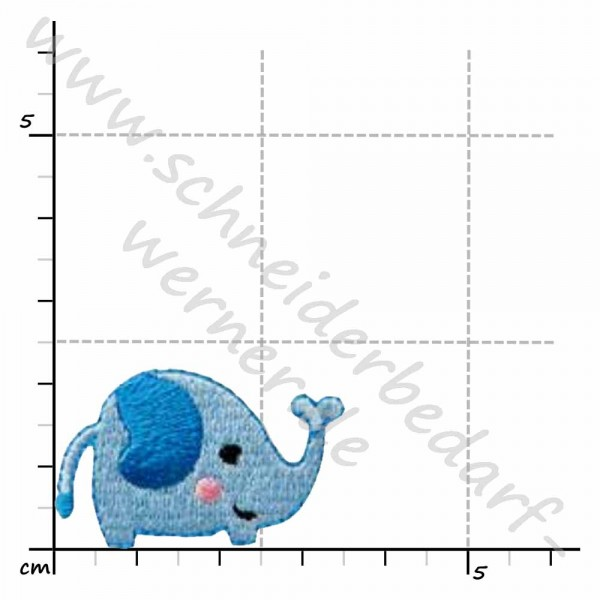 Mini-Applikation zum Aufbügeln (Elefant)