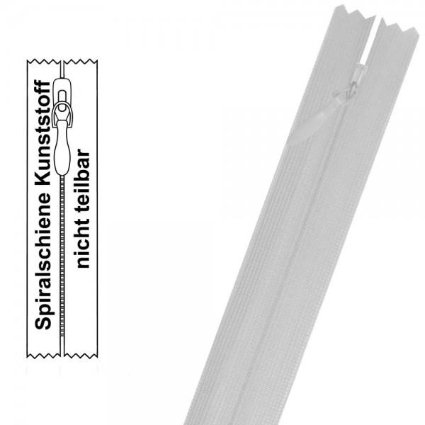 Reißverschluss für Kleider - 3 mm nahtverdeckte Spiralschiene - 1-Weg - Nicht Teilbar