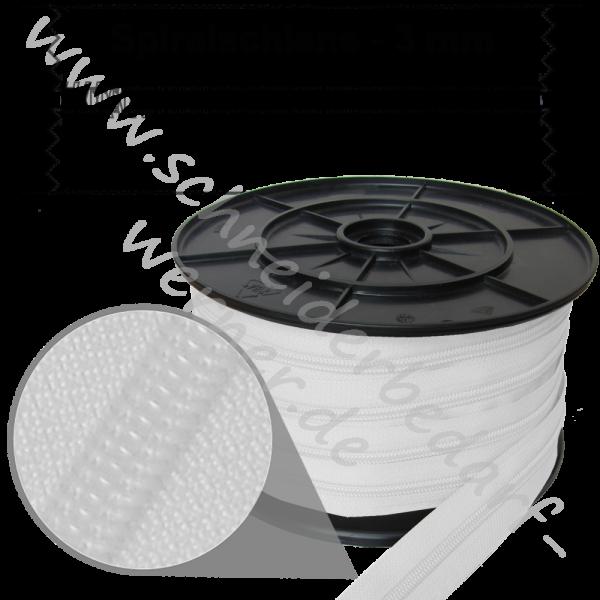 3 mm - Reißverschluss Spiralschiene (Kunststoff) - Meterware