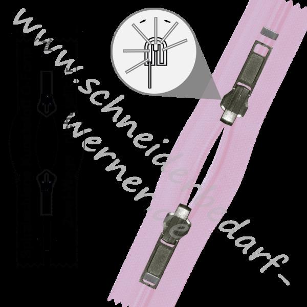 6 mm - 2-Wege-Wende-Reißverschluss (Spiralschiene (Kunststoff)) - O-Form - Nicht Teilbar