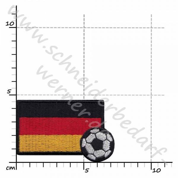 Applikation zum Aufbügeln (Fußballflagge Deutschland)