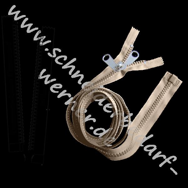 6 mm - Reißverschluss Krampenschiene (Kunststoff) - Zelt - 1-Weg - Teilbar