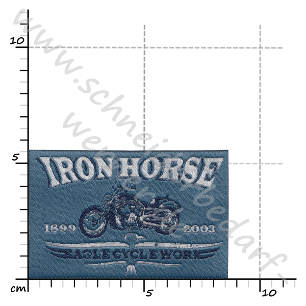 Motiv-Flicken zum Aufbügeln (Iron Horse)
