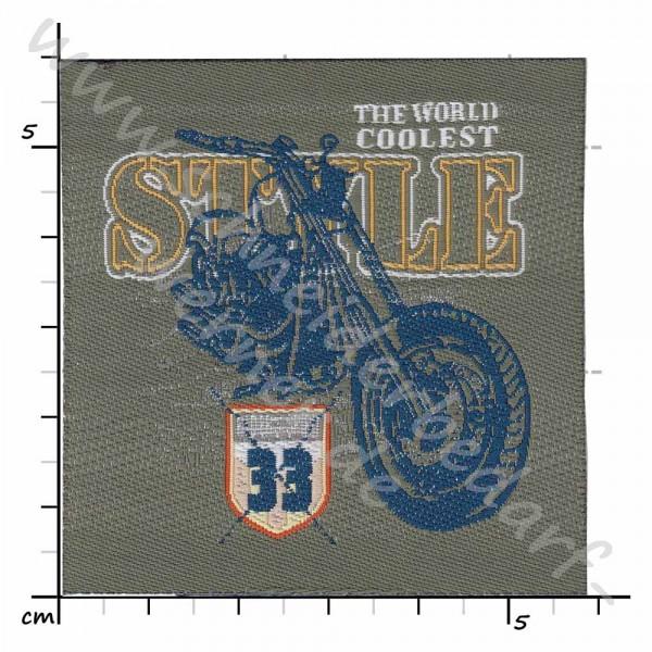 Motiv-Flicken zum Aufbügeln (Motorrad Style 33)