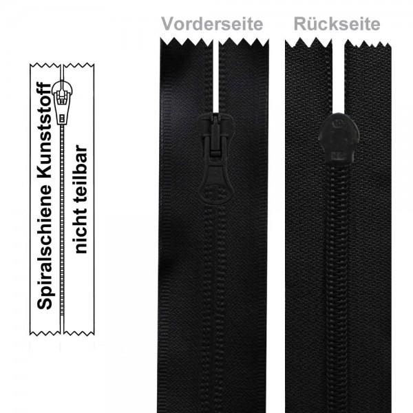 6 mm - Umgekehrter Reißverschluss (Spiralschiene) - Gummiert/Wasserabweisend - 1-Weg - Nicht Teilbar