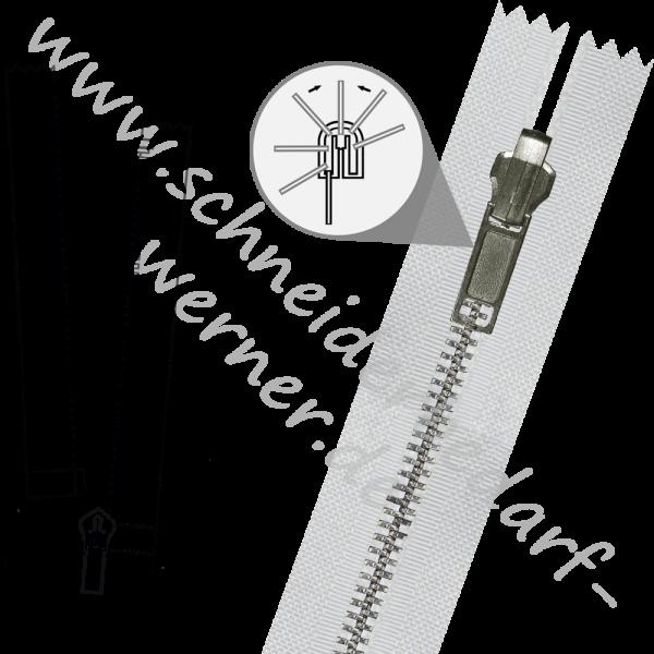 6 mm - 1-Weg-Wende-Reißverschluss (Metallschiene) - Teilbar