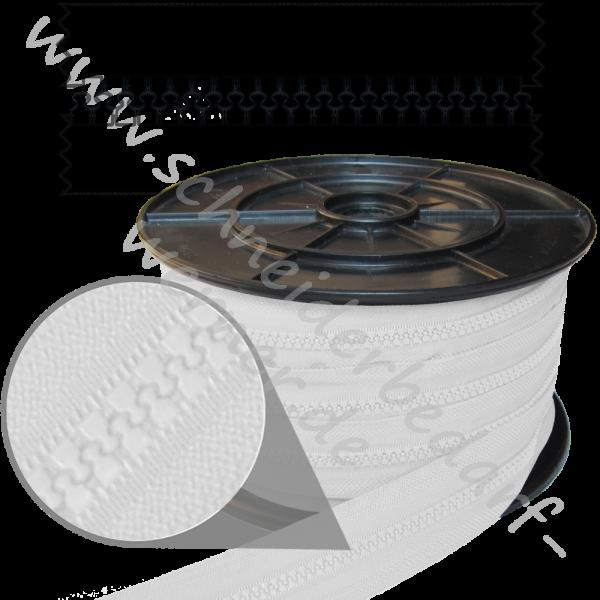 9 mm - Reißverschluss Krampenschiene (Kunststoff) - Meterware
