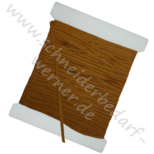 Kordel (flach, eckig) Velours-Lederimitat 3 mm x 1 mm