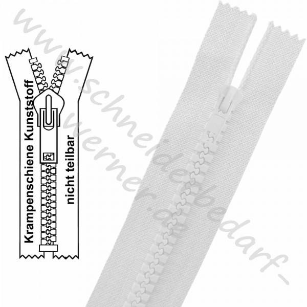 6 mm - Reißverschluss Krampenschiene (Kunststoff) - 1-Weg - Nicht Teilbar