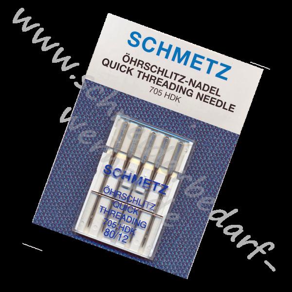 Nähmaschinennadeln Flachkolben Universal Öhrschlitz (Selbsteinfädelnd)